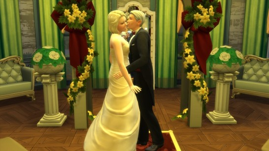 Burke and Brystle finally got married.