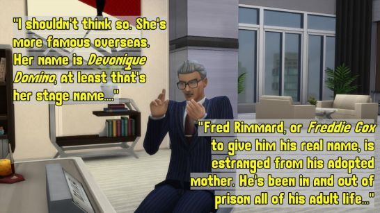 Andre discovered who Fred's mother is